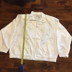 CLC XL white embroidered jacket